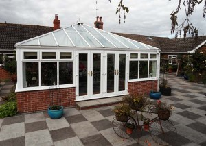 Orangery with double french doors