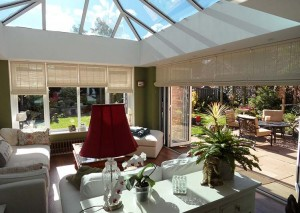 An orangery with chic interior design