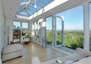 An orangery with a beautiful view onto some fields - add the finishing touches for your new orangery