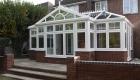 White bespoke conservatory
