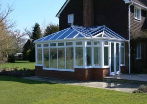 Combination conservatory with brick base