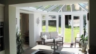 A kitchen conservatory extension