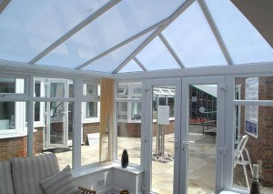 Replacement polycarbonate roof on an Edwardian conservatory
