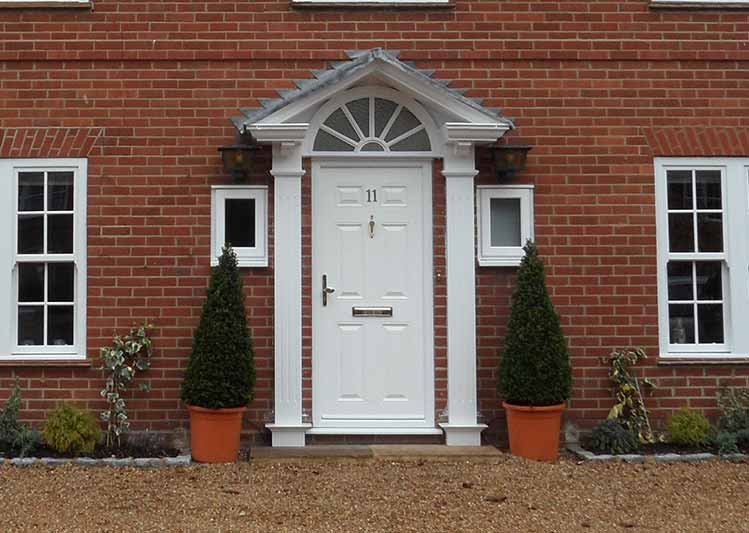 Entrance doors in our showroom