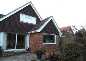 An external view of a new kitchen conversion-extending your home