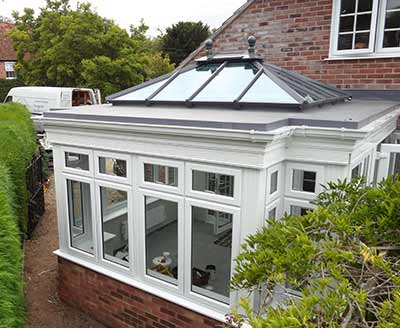 Orangery with glazed roof