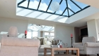 An orangery installation at one of our showrooms - roof lantern