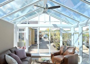 Replacement glazed conservatory roof