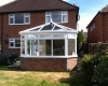 Victorian conservatory leading onto the garden