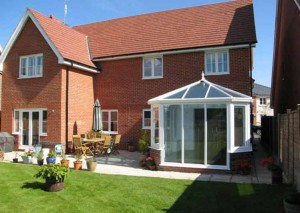 A large white victorian conservatory