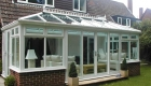 A large rectangular Edwardian conservatory - conservatory windows
