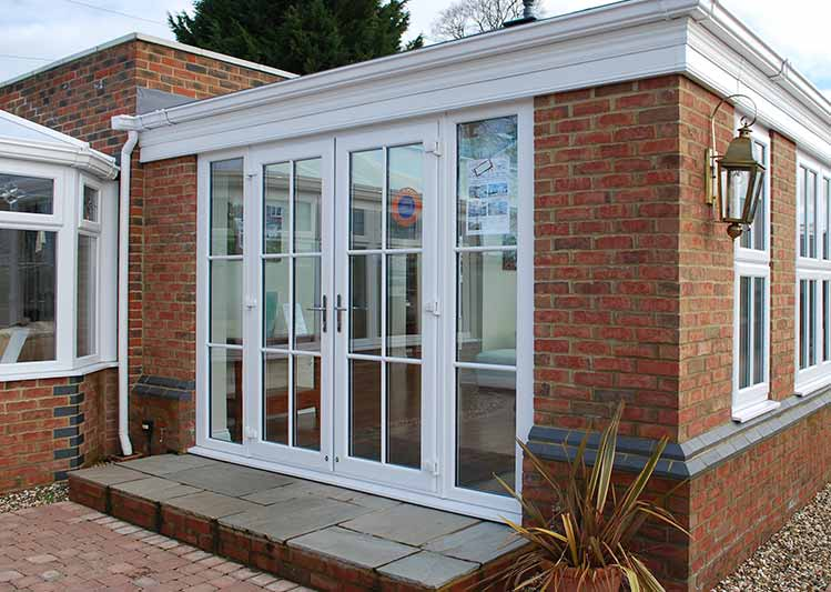 Make the most of your living space oakley green conservatory for Upvc french doors with georgian bar