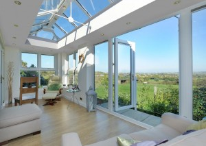Livin Room orangery with stunning decor- glass extension