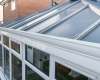 Solid glass replacement roof
