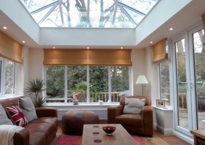 Livin Room orangery with down lights and cosy atmosphere