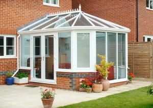 Victorian Conservatory glass extension