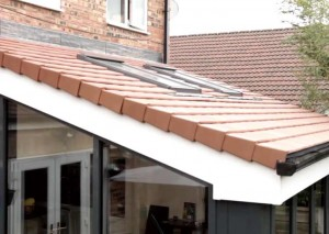 Solid tiled orangery roof