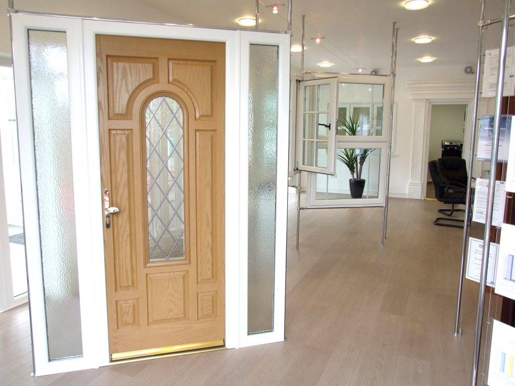 Entrance door in our showroom