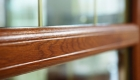 Oak foil uPVC window bar