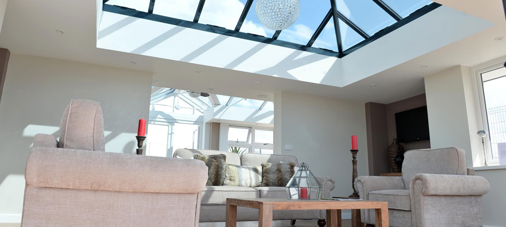 A large conservatory in our Bristol conservatory showroom