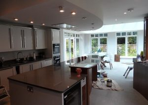 Kitchen extension interior