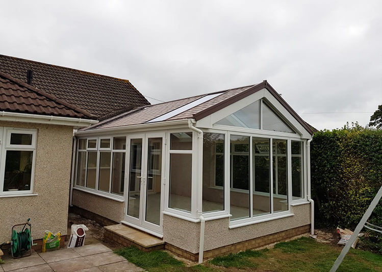Tiled roof gable end conservatory