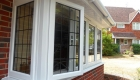 White uPVC bay window