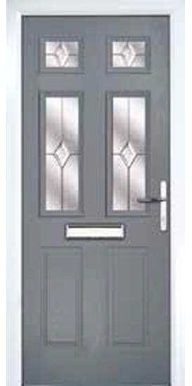 hudson slate grey door
