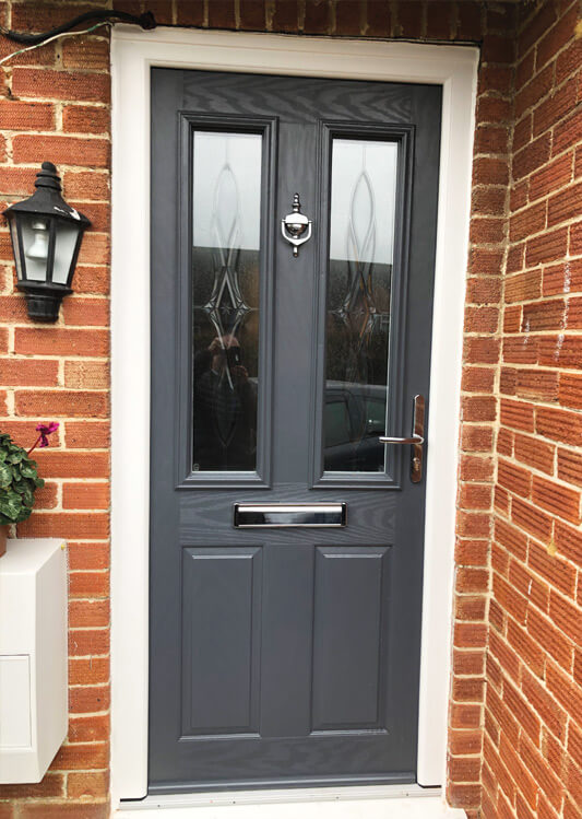 grey composite front door colour