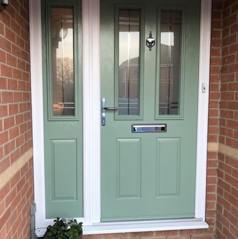 Oakley Green Chartwell Green composite door