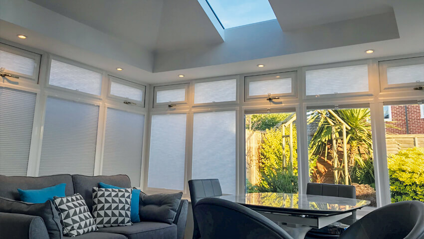 Conservatory interior with roof lantern