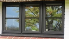 Black ash uPVC windows with astragal bars