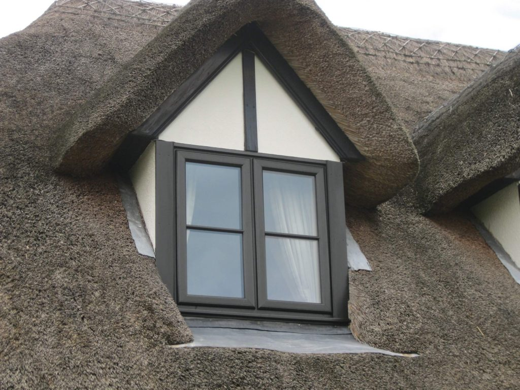 Thatched cottage window