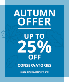 up to 25% off all conservatories