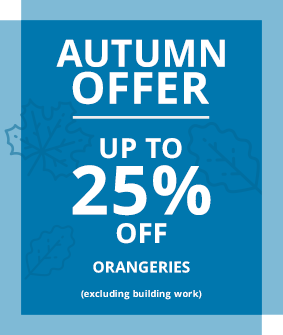 up to 25% off all orangeries