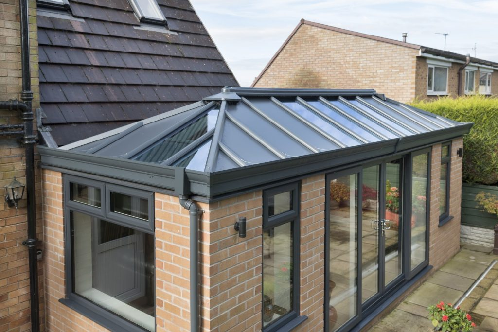 Livin solid tiled replacement orangery and conservatory roof replacement - warm roof conservatory